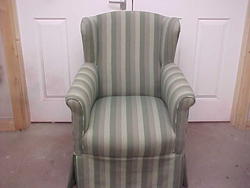 Reupholstery of chairs and furniture